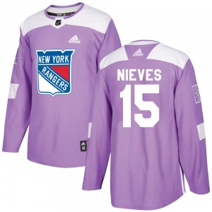 Boo Nieves New York Rangers Adidas Authentic Purple Fights Cancer Practice Jersey