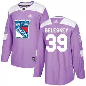 Youth Matt Beleskey New York Rangers Adidas Authentic Purple Fights Cancer Practice Jersey